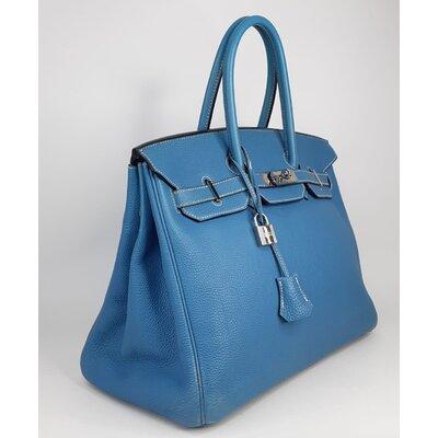 Bolsa Hermès Birkin 35 Togo Azul