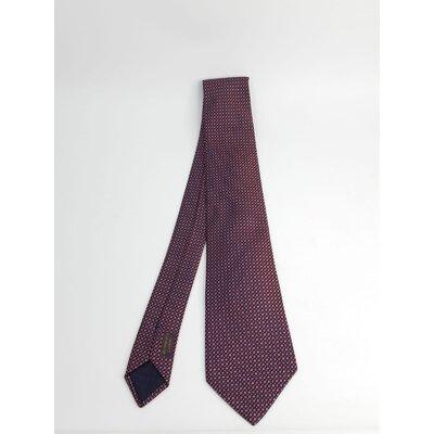 Gravata Hermès Seda Estampada Bordô