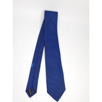 Gravata Salvatore Ferragamo Seda Estampada em Azul