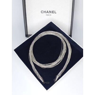 Cinto Chanel Vintage Prateado