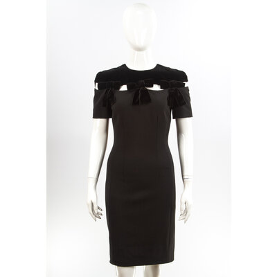Vestido Fendi Strech/Veludo Preto