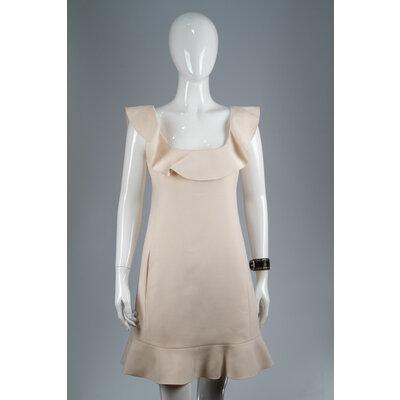 Vestido Valentino Crepe Offwhite