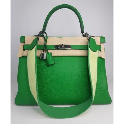 Bolsa Hermès Kelly 35 Amazone Togo Vert Mente