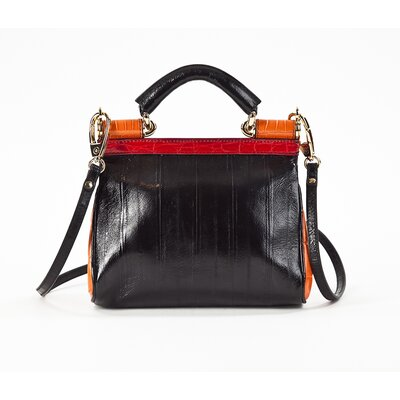 Bolsa Dolce & Gabbana sicily preto, rosa e laranja