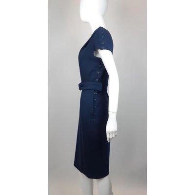Vestido Jmary Crepe Azul Marinho