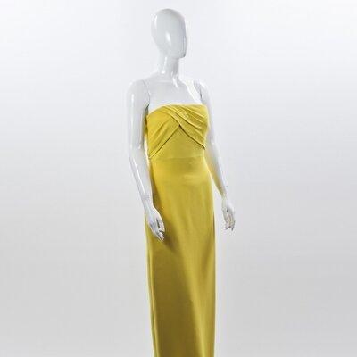 Vestido longo Gucci amarelo em seda
