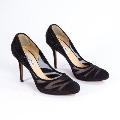Sapato Jimmy Choo Camurça Preto