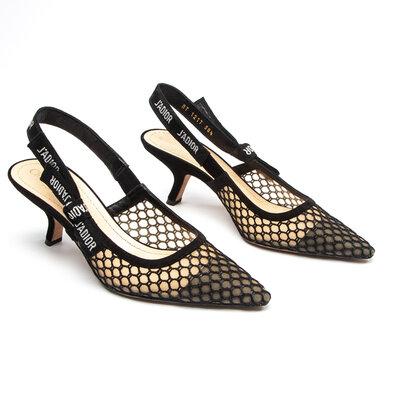 Sapato Christian Dior J'Adior Camurça Preto