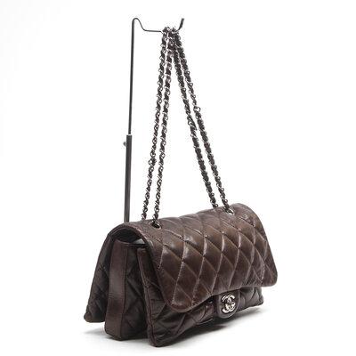 Bolsa Chanel em Couro Marrom