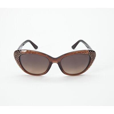 Óculos Salvatore Ferragamo marrom c/strass