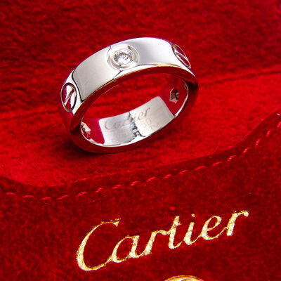 Anel Cartier Love Com Diamantes