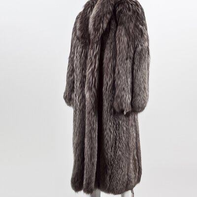 Casaco Dior de Renard argentée