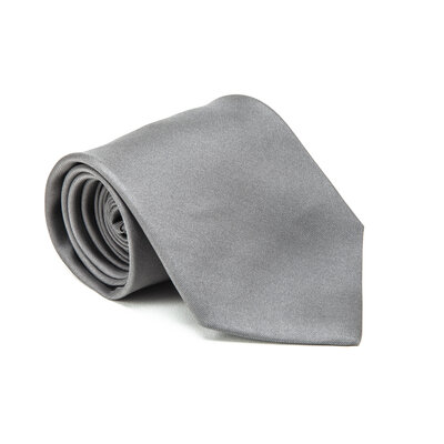 Gravata Hermès em seda cinza