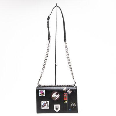 Bolsa Dior Diorama Coleção Paradise em couro preta