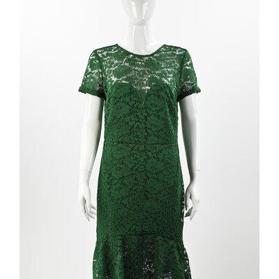 Vestido Burberry em Renda Verde