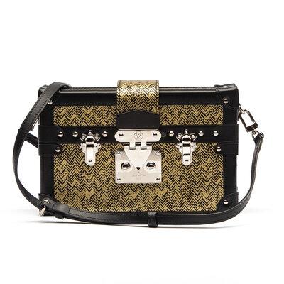 Bolsa Louis Vuitton Petite Malle Preta/Dourada