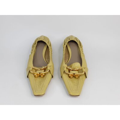 Sapato Bottega Veneta, Couro Verde Claro