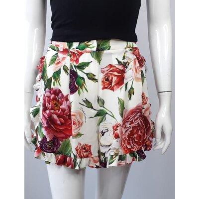 Short Dolce & Gabbana Seda Estampado Rosas