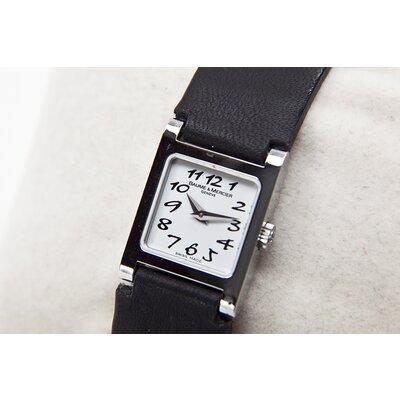 Relógio Baume & Mercier com pulseira em couro preta