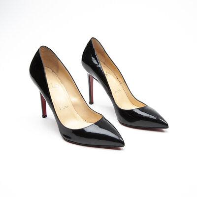 Sapato Louboutin Verniz Preto