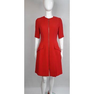 Vestido Dior Crepe Vermelho