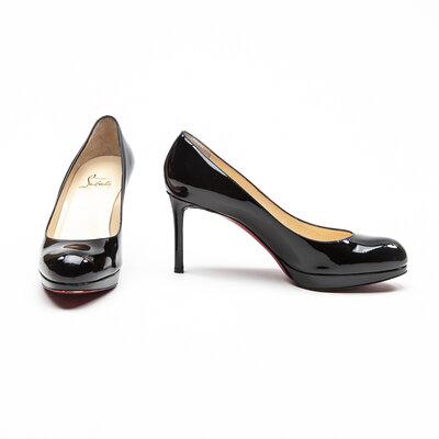 Sapato Louboutin Verniz/Plataforma Preto