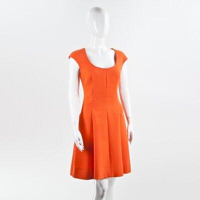 Vestido Fendi laranja