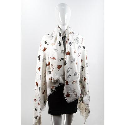 Echarpe Louis Vuitton em Lã/Seda Estampado Monograma Tons De Caramelo