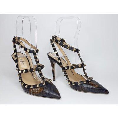 Sapato Valentino Rockstuds em Snake