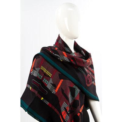 Echarpe Hermès em Cashmere e Seda estampado