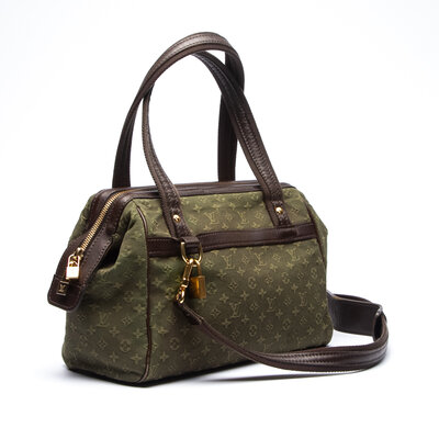 Bolsa Louis Vuitton Mini Lin Josephine PM Verde Musgo
