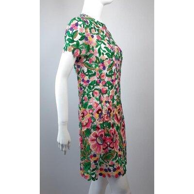 Vestido Valentino Guipir Multicolorido