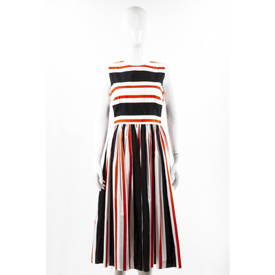 Vestido Dolce & Gabbana Cotton Laranja E Preto