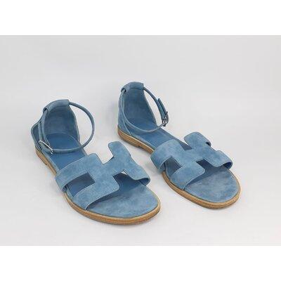 Sandália Hermès, Camurça Azul