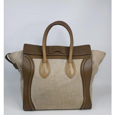 Bolsa Celine Luggage Bege Kaki emCanvas e Couro