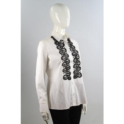 Camisa Valentino Algodão Bordada em Branca e Preto