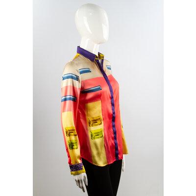 Camisa Versace Seda Estampada