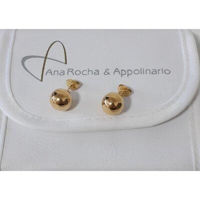 Brinco Ana Rocha & Appolinario Bola em Ouro Amarelo