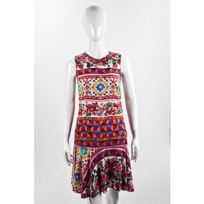 Conjunto com Saia Dolce & Gabbana em seda estampado