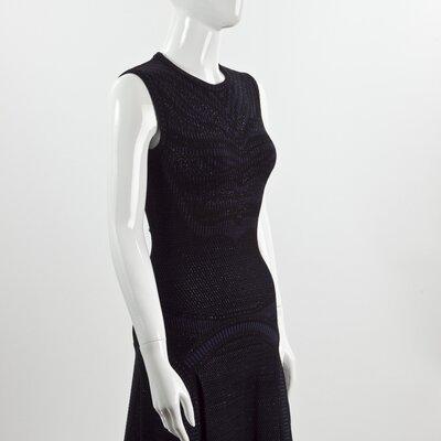Vestido Roberto Cavalli strech preto e azul