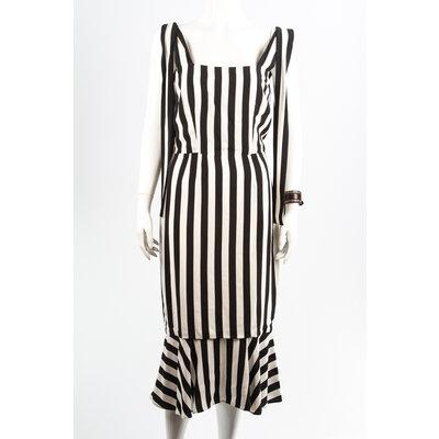 Vestido Dolce & Gabbana Crepe B&W