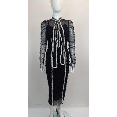 Vestido Dolce & Gabbana Renda e Seda B&W