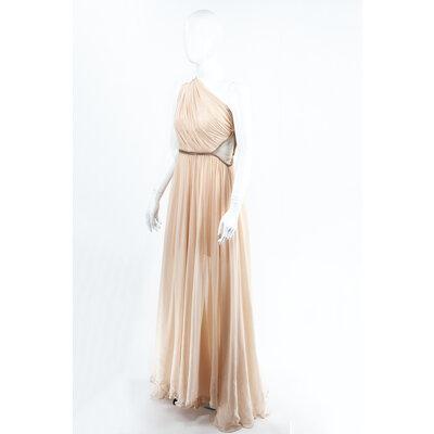 Vestido Longo Maria Lucia Hohan em musseline nude