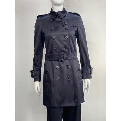 Trench Coat Burberry Cotton Preto