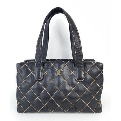 Bolsa Chanel Surpique Vintage Couro Preta