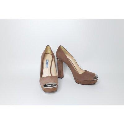Sapato Prada Camurça Nude Rosado