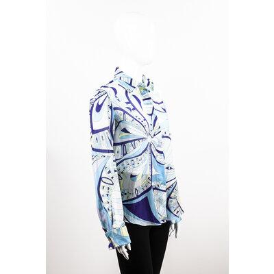 Camisa Pucci Algodão Estamp/Azul