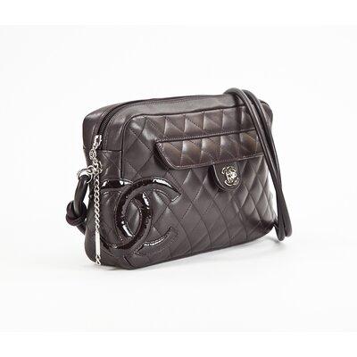 Bolsa Chanel em lambskin marrom