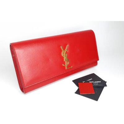 Clutch Yves Saint Laurent Couro Vermelha