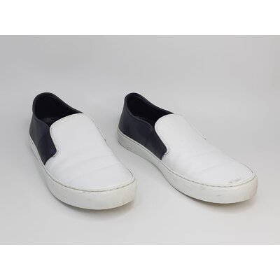 Sneakers Chanel Couro CC Logo Branco e Preto